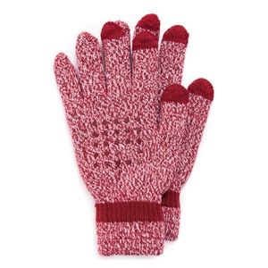 MUK LUKS Red Speckled Touchscreen Gloves NWT